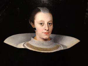 Elias Fligenschou, 1645, Detail, head, not on a plate - its just fashion